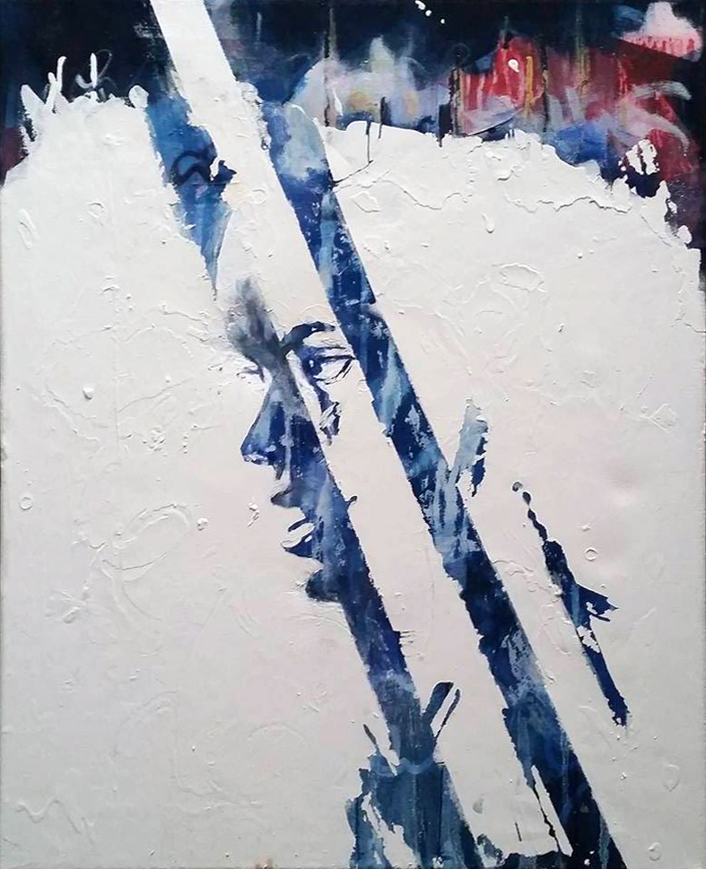 Rey - Mixed media on canvas, 40 x 50 cm
